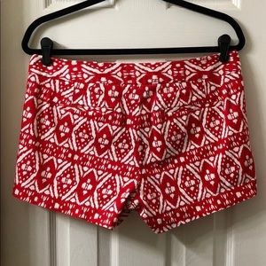 J. Crew Shorts - EUC J Crew City Fit Shorts. Size 6. Red & White.